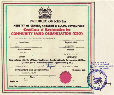OMDC - certifikát